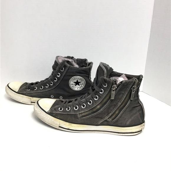 Converse Shoes   Converse Double Zip Womens Gray Shoes   Poshmark